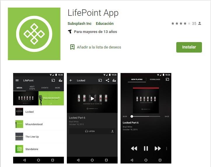 Trabajar con la app de Lifepoints