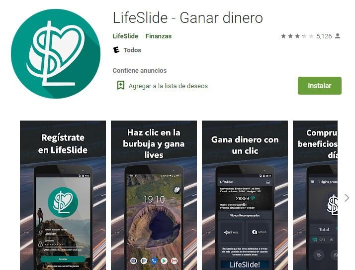 Ganar dinero extra con Lifeslide
