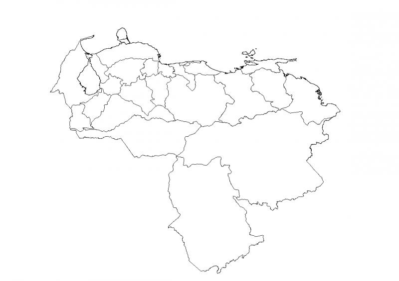 mapa de los estados de venezuela para colorear